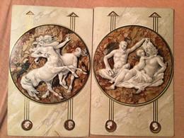 Art Scène Grecque X 2 Centaure Et Diable Pan Faune (envoi Vers Molenbeek St Jean 1905 - 1900-1949