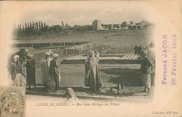 CPA Biskra - Ligne De Chemin De Fer - Ben Gana Bachaga Des ZIbans - Circulée 1903 - Dos Non Divisé - Biskra