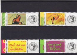 Lot De 4 Timbres Personnalisés 3634 A à 3637 A - Personalized Stamps (MonTimbraMoi)