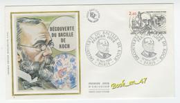 {68269} FDC Enveloppe 1er Jour , Soie , Découverte Du Bacille De Koch , Paris 13 Novembre 1982 , 2,60 Fr - 1980-1989