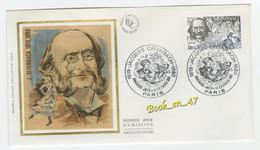 {68270} FDC Enveloppe 1er Jour , Soie , Jacques Offenbach , Paris 14 Février 1981 , 1,40 + 0,30 Fr - 1980-1989