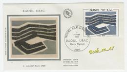 {68271} FDC Enveloppe 1er Jour , Soie , Raoul Ubac , Paris 02 Février 1980 , 3,00 Fr - 1980-1989