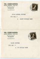 1956 2 Plikart(en) - Postkaart(en) - Zie Zegels, Stempels, Hoofding FELIX LEJEUNE HANSROUL - Rochefort - ESSO GAZ Agence - Altri