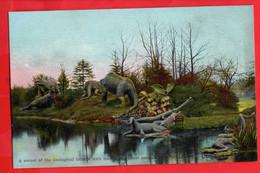 LONDON GEOLOGICAL GARDENS     EXTINCT ANIMALS  DINOSAURS     CRYSTAL PALACE EXHIBITION - Altri