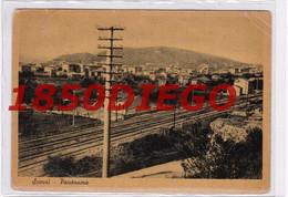 SCAURI -  PANORAMA CON FERROVIA  F/GRANDE  VIAGGIATA 1950 - Latina