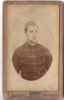 Militaire Belge C.1890 à Bruxelles Photo Cdv - Officier Belgique - Guerra, Militares