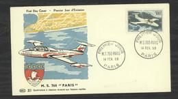 0LE  019  -  France  -  FDC  :  Yv  Av  35  (o)   LMS 760 Paris - 1950-1959