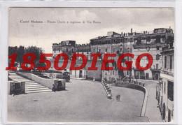 CASTEL MADAMA - PIAZZA DANTE E INGRESSO DI VIA ROMA  F/GRANDE  VIAGGIATA 1955 ANIMATA CON CORRIERA - Ohne Zuordnung