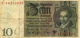 10 Reichsmark - Reichsbanknote - F.14332692 - 30 August 1924  22 January 1929 - 10 Mark