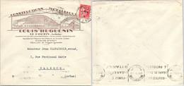 LETTRE PUBLICITAIRE CONSTRUCTIONS METALLIQUES LOUIS HUGUENIN LE POUZIN ARDECHE 28.11.1936  /1 - Briefe U. Dokumente