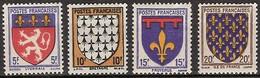 France - YT 572, 573, 574 Et 575 (1943) Armoiries De Provinces (I). Neuf ** - Nuevos