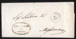DA MATERA A MIGLIONICO 1870 LETTERA DI SERVIZIO (PREF63) - Marcophilie