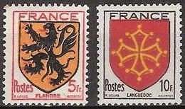 France - YT 602 & 603 (1944) Armoiries De Provinces (I) Flandre Et Languedoc. Neuf ** - Nuevos