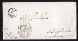 DA POTENZA A MIGLIONICO 1873 LETTERA DI SERVIZIO (PREF60) - Marcophilie