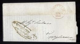 DA POTENZA A MIGLIONICO 1860 LETTERA DI SERVIZIO (PREF61) - Marcophilie