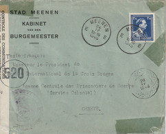Brief MEENEN Naar Geneve 24-IV-45 - CONTROLE DES COMMUNICATIONS - Lettres