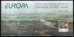Lithuania Lietuva Litauen / Europa Stamps 1993 - 2001 / Special Folder / MNH - 2001