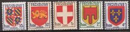 France - YT 834, 835, 836, 837, 838 Et 839 (1949) Armoiries De Provinces (IV). Neuf ** - Nuevos