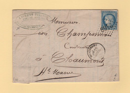 Montherme - 7 - Ardennes - 28 Avril 1872 - Courrier De La Rayere - 1849-1876: Classic Period