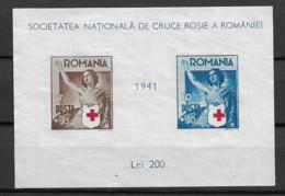 1941 Mint Romania  Block 16 - Blocks & Kleinbögen