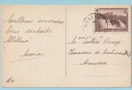 OCB 293 COO Op Postkaart ASSESSE 1930 - Cartas