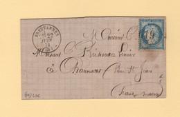 Breuvannes - 50 - Haute Marne - GC 619 - 22 Juin 1873 - Sans Correspondance - 1849-1876: Classic Period