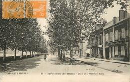 MONTCEAU LES MINES QUAI DE L'HOTEL DE VILLE ET LE CREDIT LYONNAIS - Montceau Les Mines