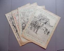 4 Anciennes Couverture De Cahier - La Lutte Contre La Barbarie (Belgique) - Illustrateur G. Grellet  Collect. C. Charier - Book Covers