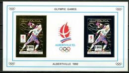 Olympische Spelen  1992, Guyana - Blok  ( Gold + Silver ) Postfris - Winter 1992: Albertville