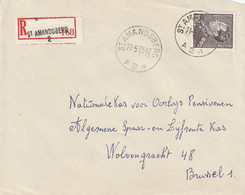 Poortman 10fr. Op Aangetekende Briefvoorzijde / Devant De Lettre St. AMANDSBERG 1963 - 1936-1951 Poortman