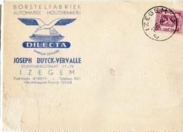 1948 1 Plikart(en) - Postkaart(en) - Zie Zegels, Stempels, Hoofding DILECTA Borstelfabriek Izegem  JOSEPH DUYCK VERVALLE - 1935-1949 Small Seal Of The State