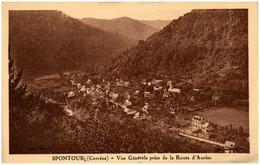 19 SPONTOUR - Vue Générale Prise De La Route D'Auriac - Other Municipalities