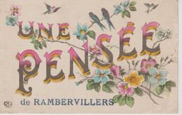 UNE PENSEE DE RAMBERVILLERS - Rambervillers