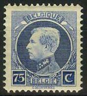 België 213B ** - Koning Albert I - Type Kleine Montenez - 75c Ultramarijn - Tanding 12 1/2 - 1921-1925 Small Montenez