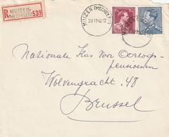 Poortman + Open Kraag Op Aangetekende Briefvoorzijde / Devant De Lettre MUIZEN (MECHELEN) 1952 - 1936-1951 Poortman