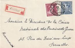 Poortman + Open Kraag Op Aangetekende Briefvoorzijde / Devant De Lettre SOYE (NAMUR) 1952 - Diamantstempel - 1936-1951 Poortman
