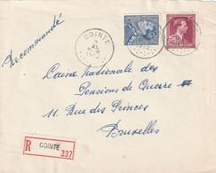 Poortman + Open Kraag Op Aangetekende Briefvoorzijde / Devant De Lettre COINTE 1952 - 1936-1951 Poortman