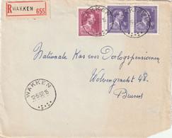 Briefvoorzijde / Devant De Lettre WAKKEN 12-5-52 - 1936-1957 Open Collar