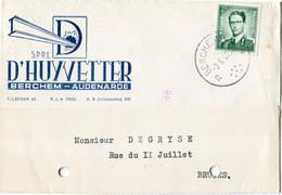 1960 1 Plikart(en) - Postkaart(en) - Zie Zegels, Stempels, Hoofding D'HUYVETTER Berchem Audenarde - Covers & Documents