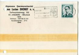 1968 1 Plikart(en) - Postkaart(en) - Zie Zegels, Stempels, Hoofding  Firma LUCIEN DHONDT Ijzerwaren - St Andries Brugge - Covers & Documents
