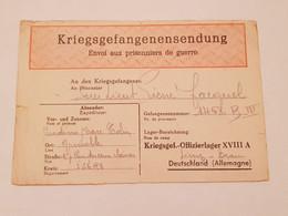 Carte Prisonnier De Guerre Oflag XVIII A Leibnitz - 1939-45