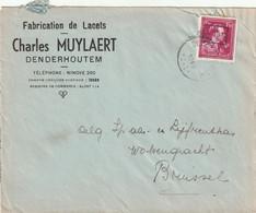 - 10 % Brief Van DENDERHOUTEM Naar Brussel 1946 - 1946 -10%