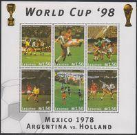 Soccer  World Cup 1998 - LESOTHO - Sheet MNH - 1998 – Frankrijk