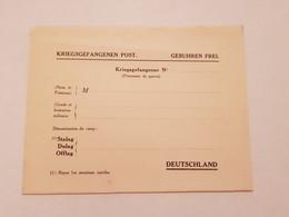 Carte Prisonnier De Guerre Oflag Stalag Dulag Vierge - 1939-45