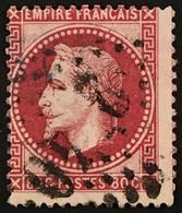 YT 32a (°) 1863-70 Napoléon III Empire Franc Lauré 80c Rose Carminé LGC (côte 45 Euros) – Cata - 1863-1870 Napoleone III Con Gli Allori