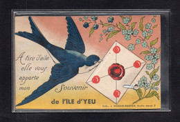 (24/01/21) 85-CPA ILE D'YEU - CARTE A SYSTEME - Ile D'Yeu