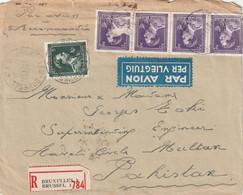 Brief Van BRUSSEL Naar PAKISTAN 1949 - 1936-1957 Open Collar