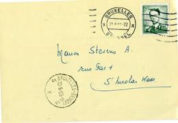 1960 1 Plikart(en) - Postkaart(en) - Zie Zegels, Stempels, Hoofding Papeterie A. DELAHAYE Bruxelles 2 - - Covers & Documents
