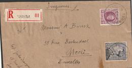 Fragment Drukwerk Met 2fr. Poortman Van TURNHOUT Naar Brussel - 1936-1951 Poortman