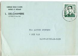 1959 1 Plikart(en) - Postkaart(en) - Zie Zegels, Stempels, Hoofding L. DELCHAMBRE Lembecq Lez Hal - Aciers Spécials - Covers & Documents